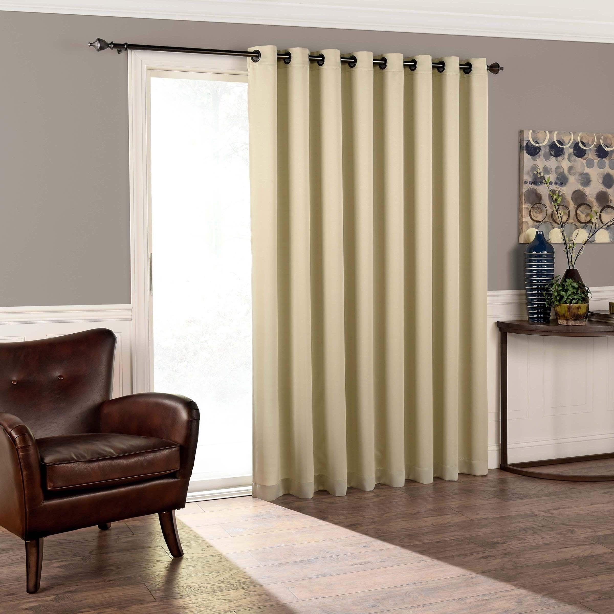 Eclipse Tricia Room Darkening Patio Door Panel 100x84 Patio Doors Panel Doors Patio Door Curtains