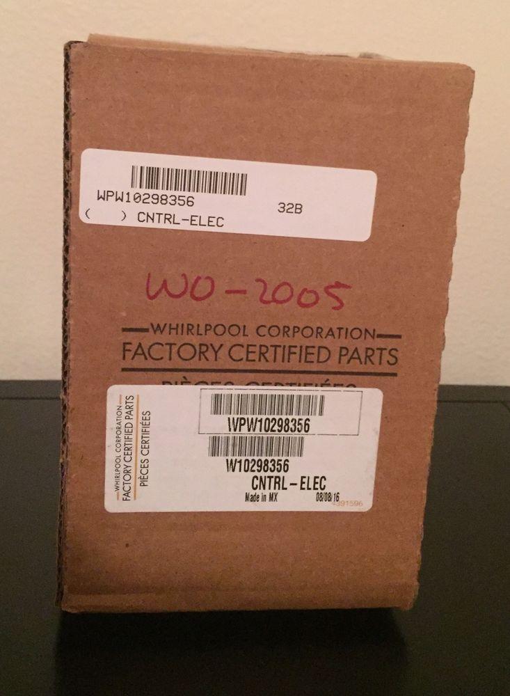 WPW10298356,W10298356 NEW Maytag Dishwasher Electronic