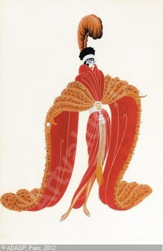 Costum Design For Zizi Jeanmaire From The Production Of La Veuve