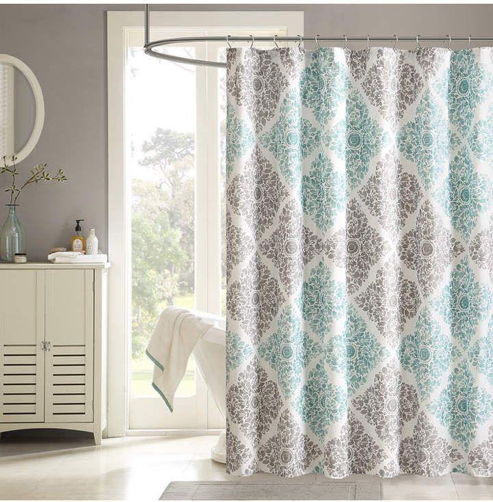 Madison Home Usa Claire 72 X 72 Floral Diamond Print Shower