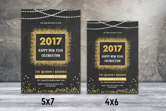 New Year Party Invitation Flyer Template New By Templatestock