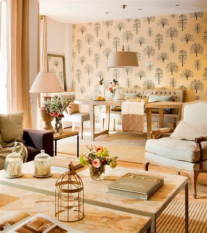 Salones cinco errores cinco soluciones papel pintado pinterest papel pintado muebles y - Papel pintado salones ...