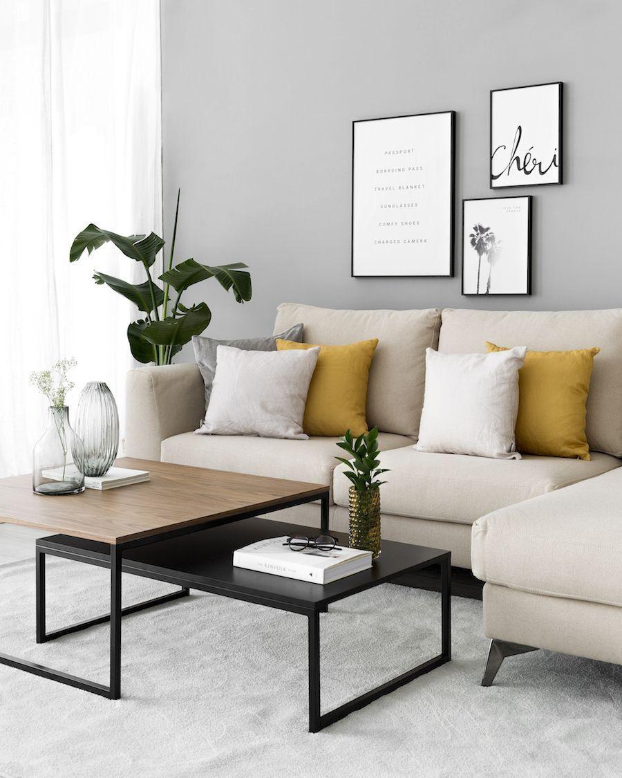 Mesa de centro negra  ¡Un básico para decorar tu hogar! La mesa