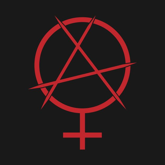 Feminist Anarchy Symbol Freedom Pinterest Anarchy Symbols And