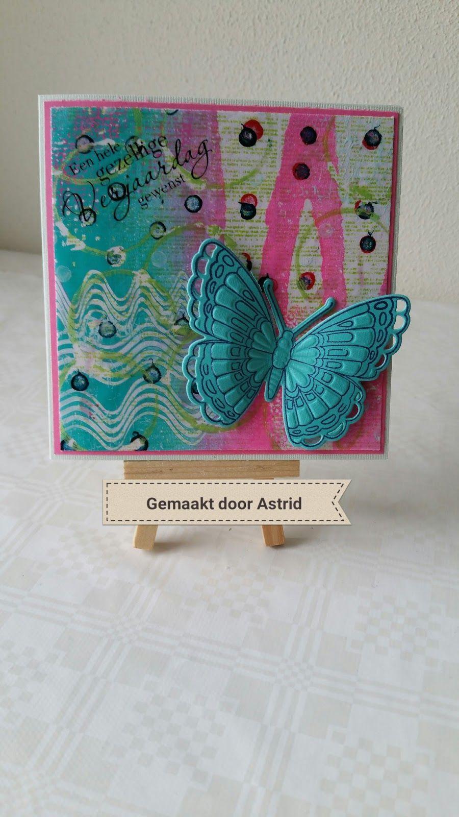 crea-scrap-card: Vlinder kaart