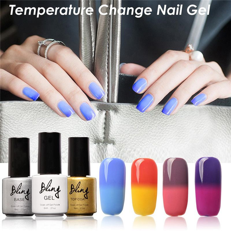 1pcs nail Gel Color Cold Temperature ChangingUV Gel Nice Nail Polish ...