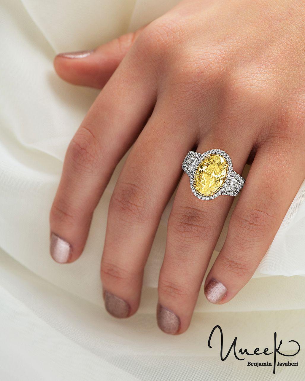 Oval Yellow Diamond Engagement Ring Yellow Diamond Engagement Ring Fancy Yellow Diamond Yellow Diamond
