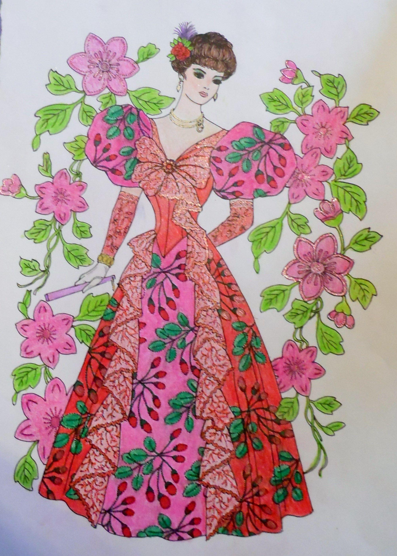 Creative Haven (Dover Publications) Art Nouveau Fashion