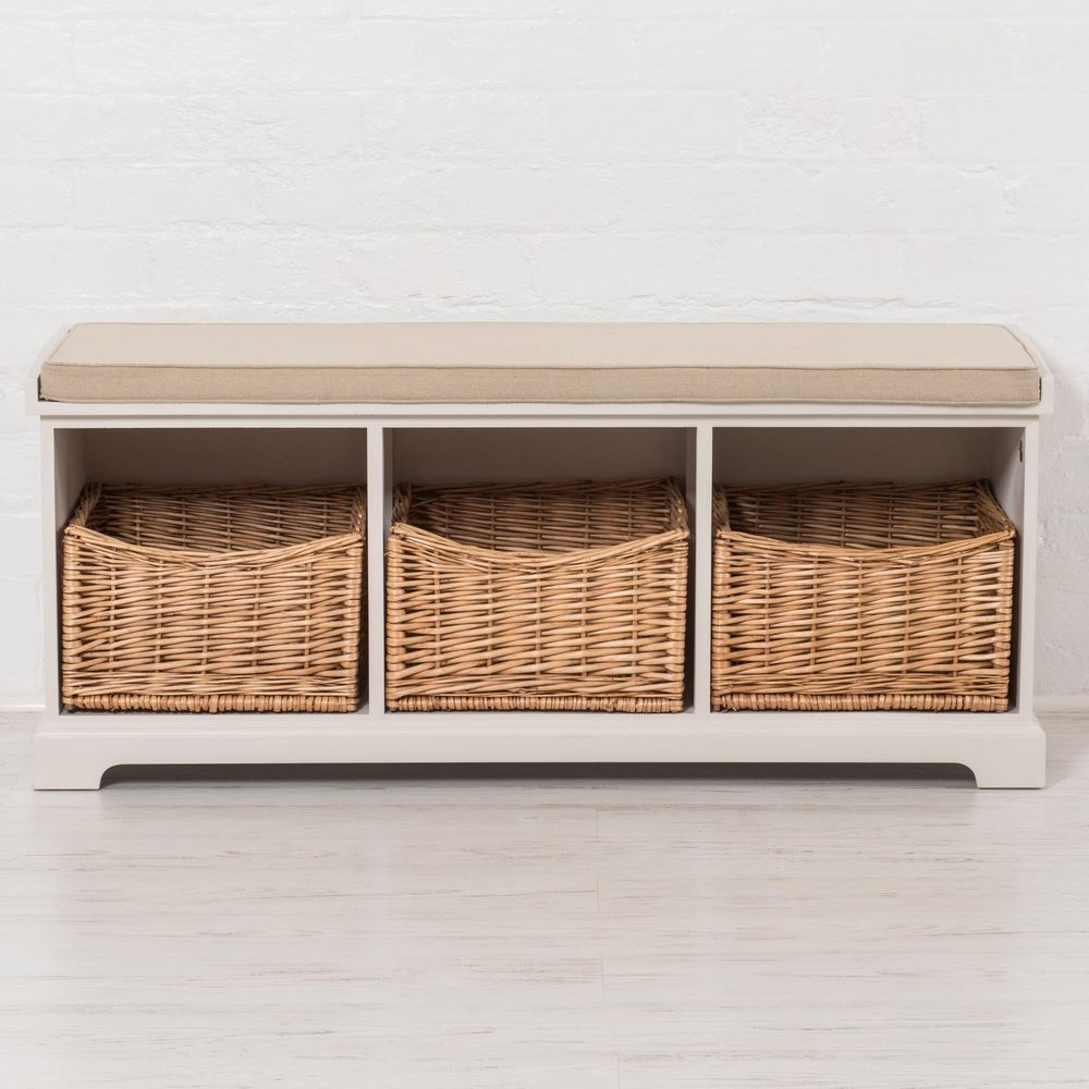 Shoe cabinet storage includes cushioned seat top hallway entryway