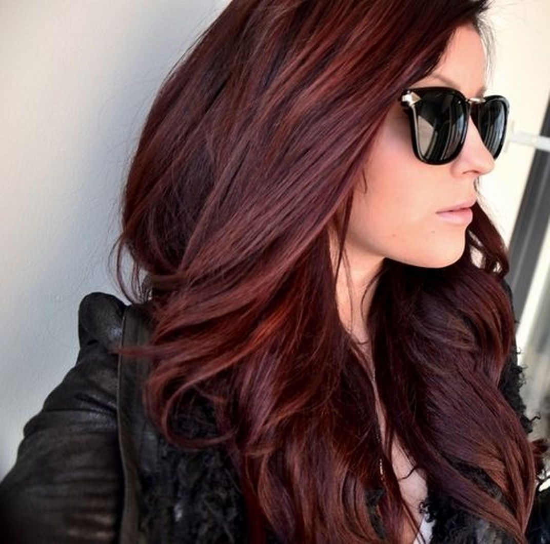 10 New Haircuts To Try For Winter | Dark red hair, Dark red and ...