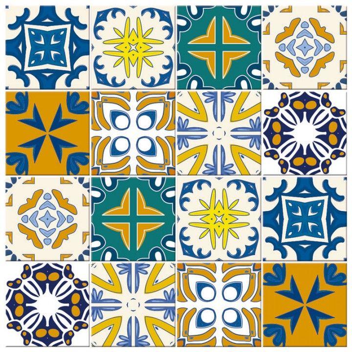 Aparador Moderno Blanco ~ Adesivo de Parede Azulejo Portugues Adesivos de Azulejos