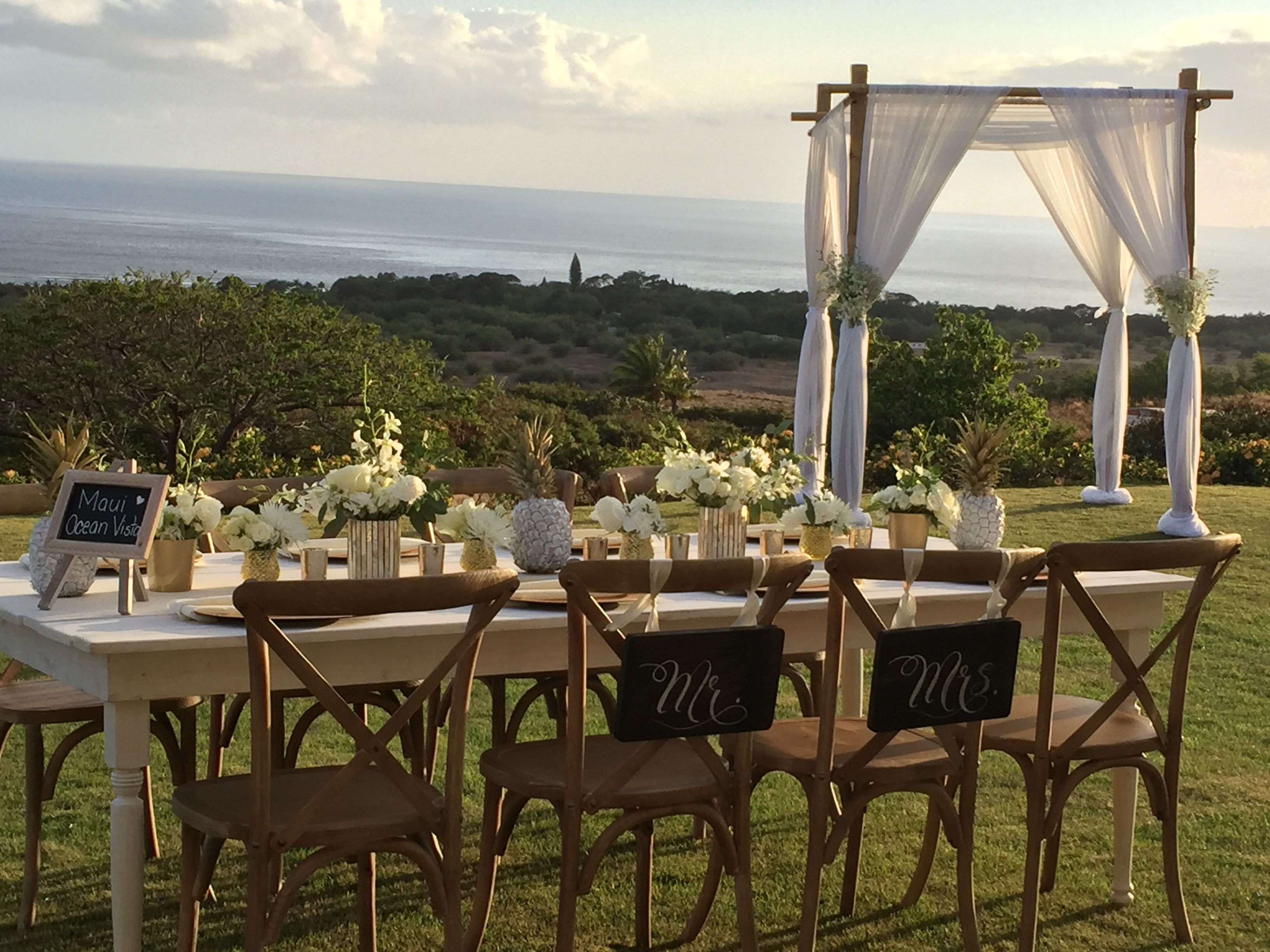 Beautiful Maui private wedding venue. Beautiful sunsets and full ocean view  www.amauiweddingday.com (808) 280-0611