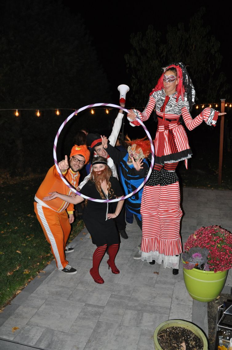 Hired a stilt walker and had some freak show dressed guests for my ...