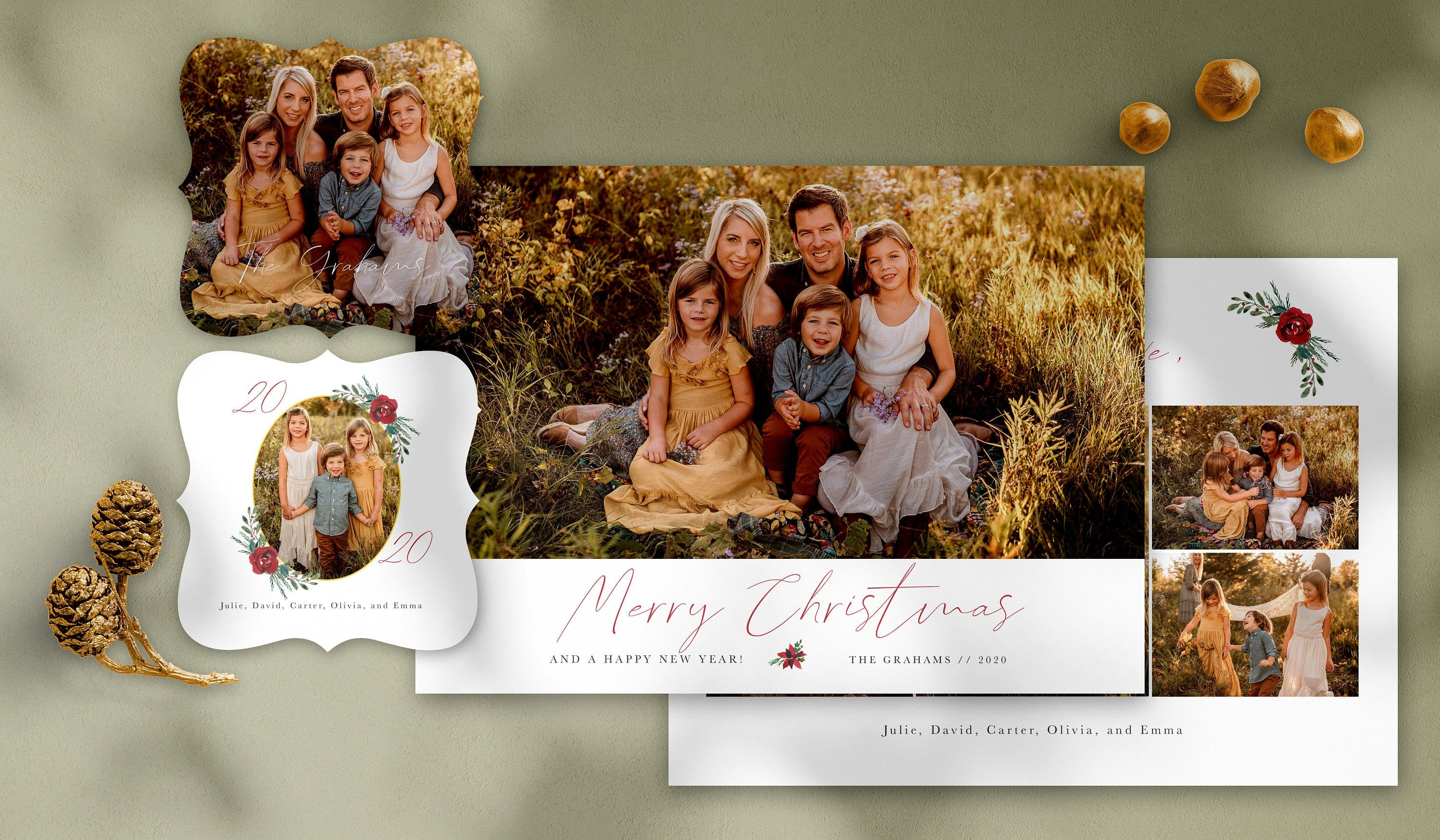 Merry Christmas Photo Card Template Free Matching 3x3 Etsy Christmas Photo Card Template Merry Christmas Card Photo Christmas Photo Cards