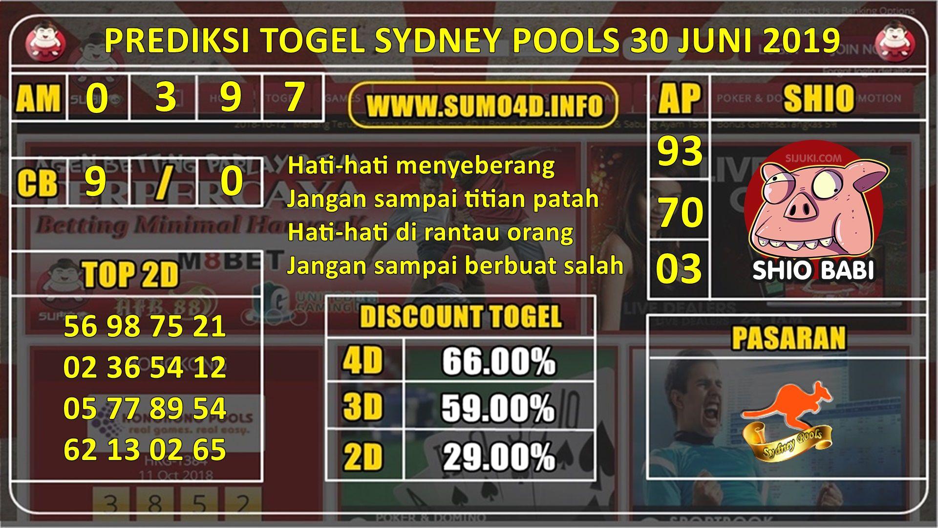 Berikut Ini Adalah Rangkuman Prediksi Hari Ini Togel Sydney Pools