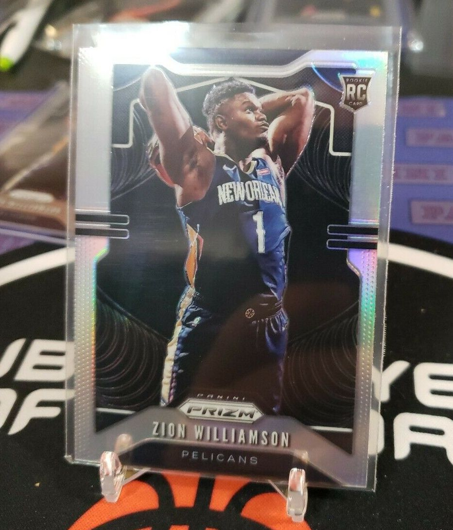 Zion Williamson Rookie Card 19 20 Prizm Silver Pelicans Nba Basketball Dunking In 2020 Basketball Drawings Basketball Pictures Basketball Game Outfit