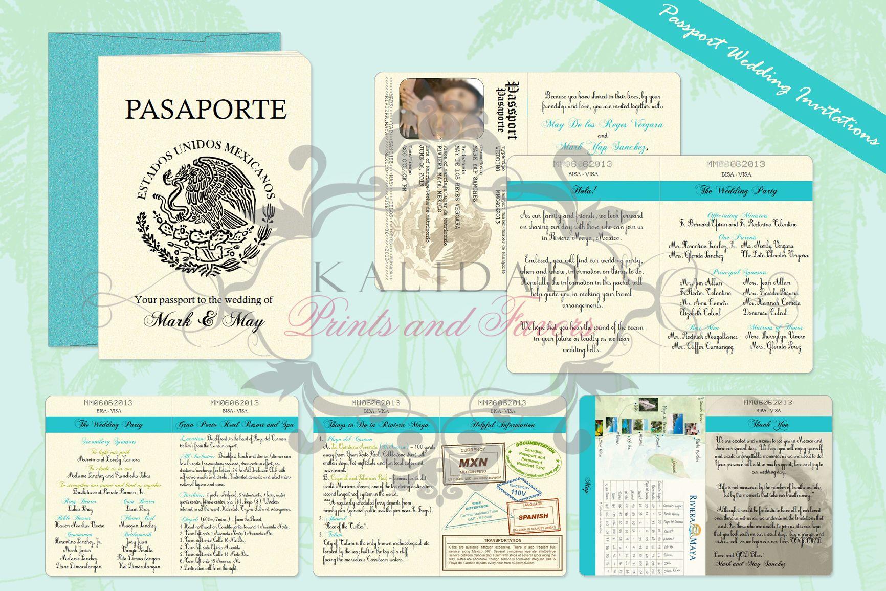 13++ Passport wedding invitations cheap info