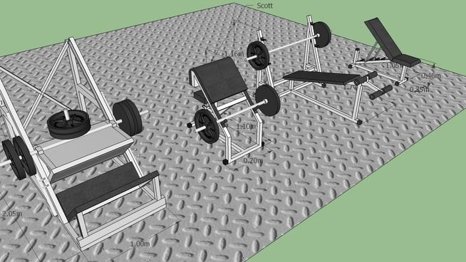 Gym Academia 3d Warehouse Academia Blocos Sketchup