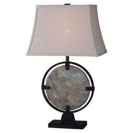 Natural Slate Table Lamp