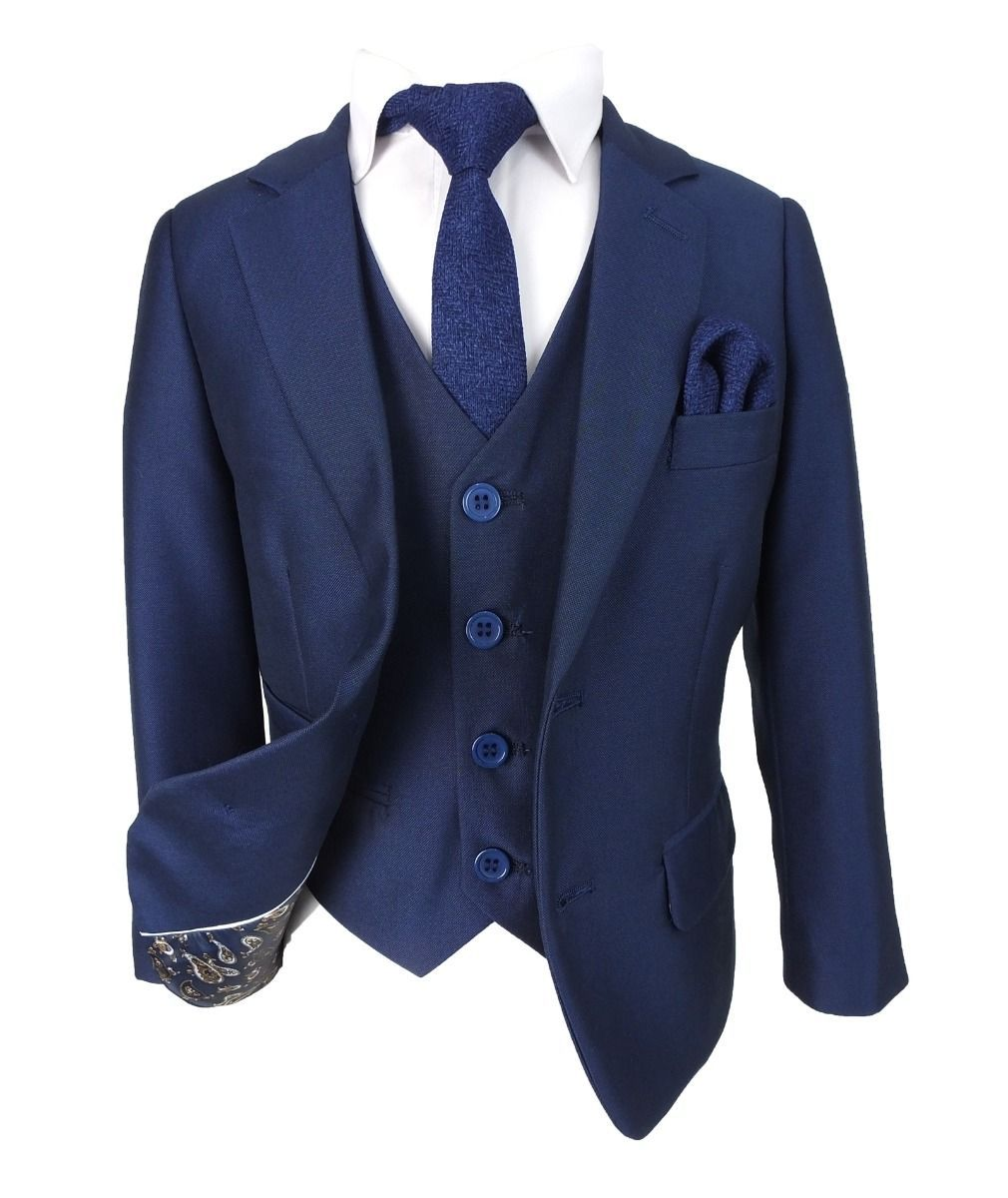 5010686388558f Boys Italian Tailored Cut French Navy Blue Suit in 2019 | Boys suits ...