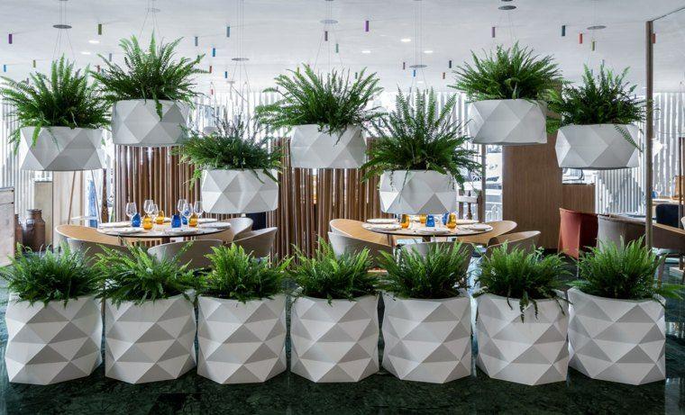 Idée jardin moderne : décoration avec pot de fleur design | Design ...