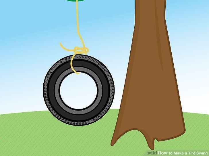 Make a Tire Swing #tireswing