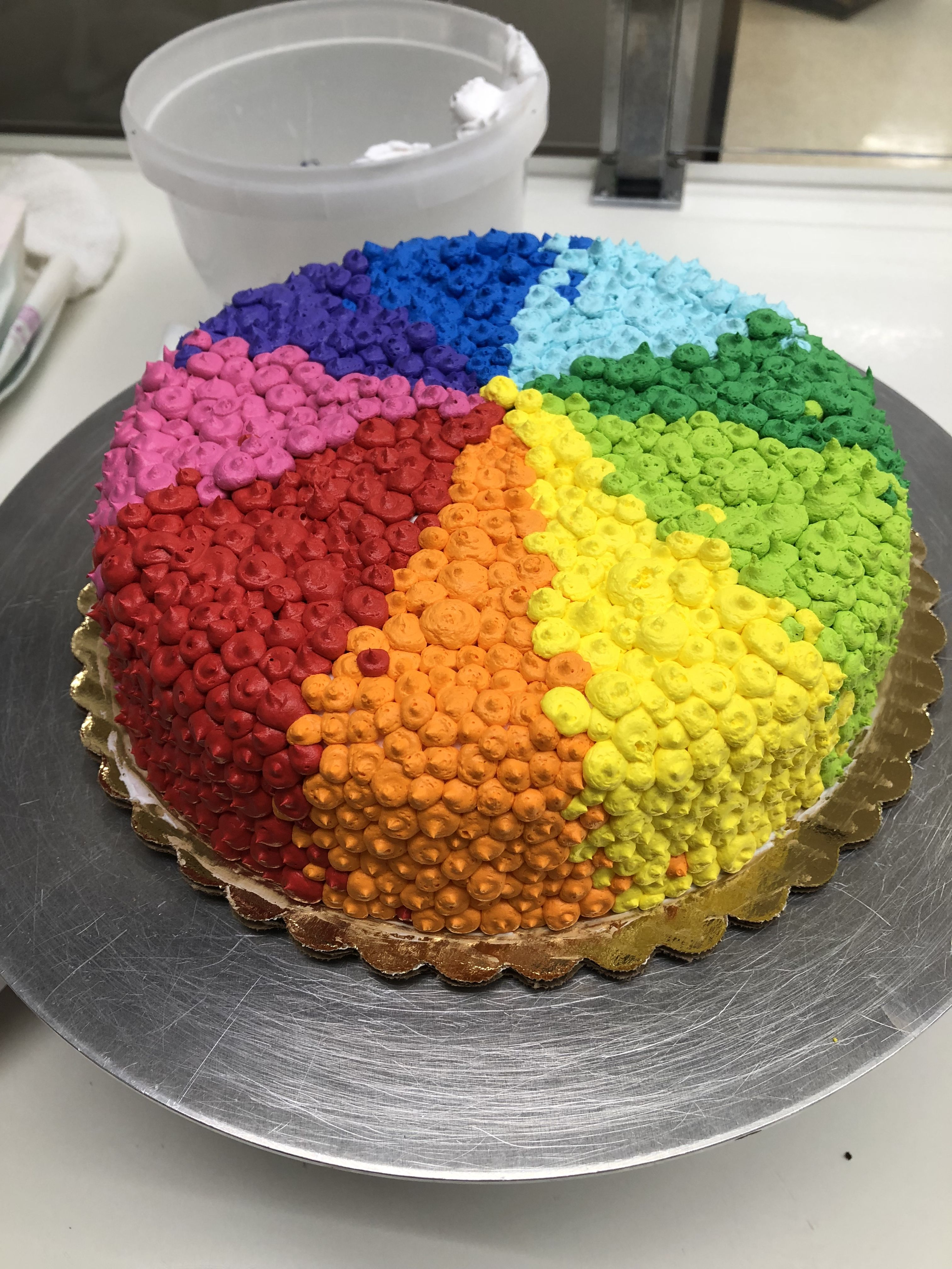 Rainbow Birthday Cake Kkscakes Button Country Cooking