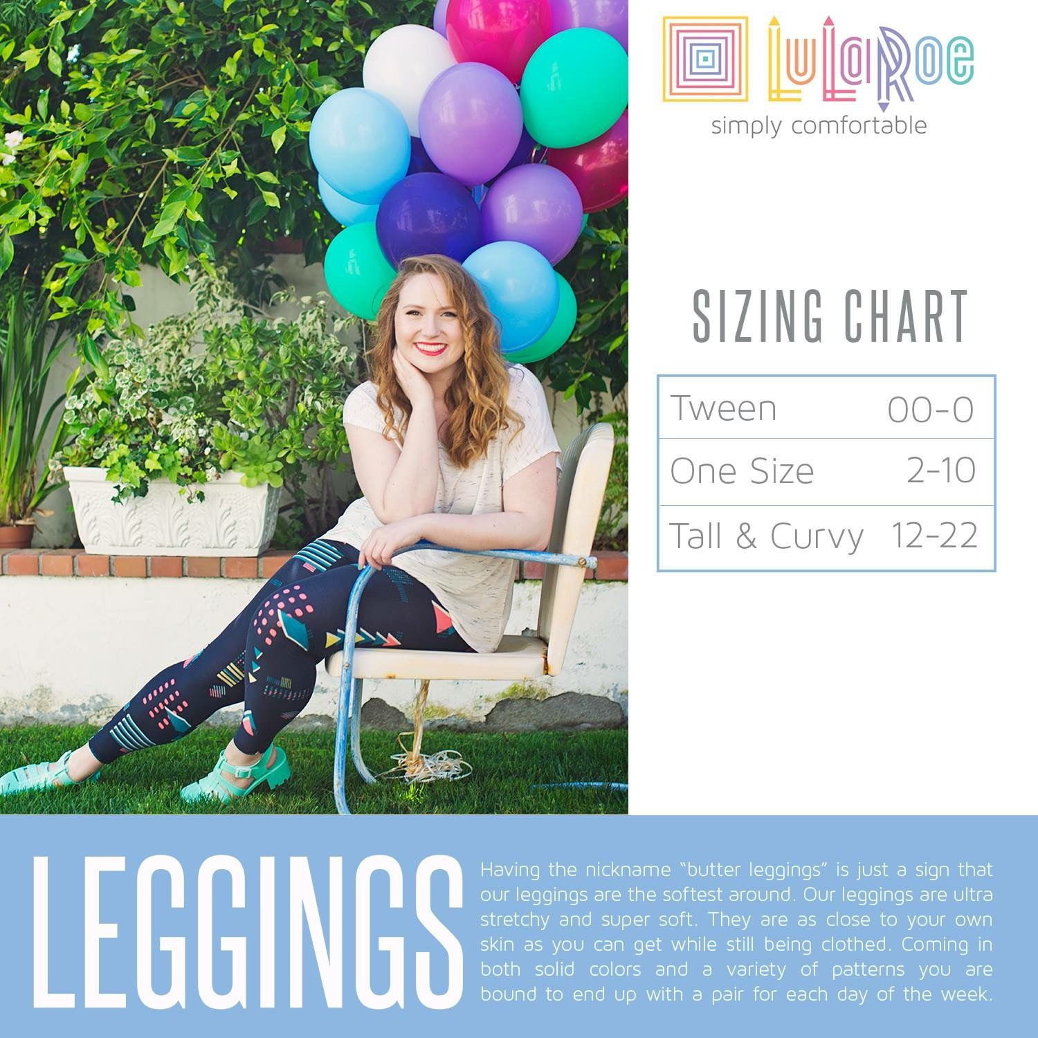 c02246a0e8bf46 LuLaRoe Leggings Sizing Chart, Size Chart for Tween, One Size and Tall and  Curvy