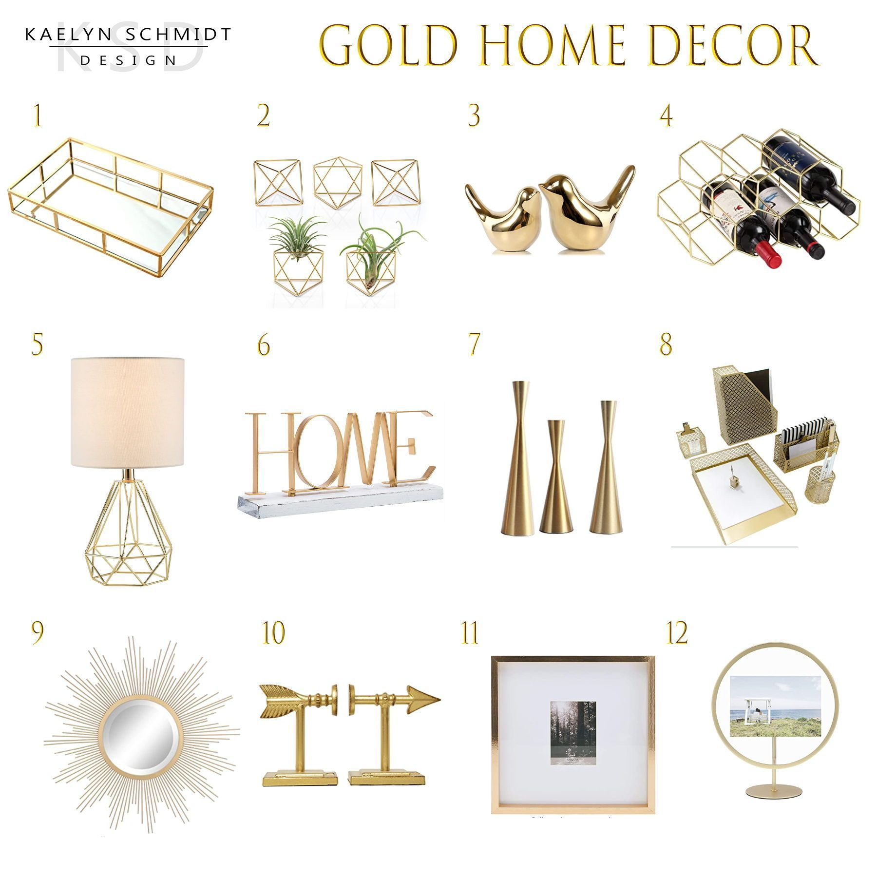 Gold is HOT | KAELYN SCHMIDT DESIGN | All from Amazon for under $50 | check out the blog post for all product links and info | #goldhomedecor #golddecor #goldaccessories #goldhome #amazonhome #amazondecor