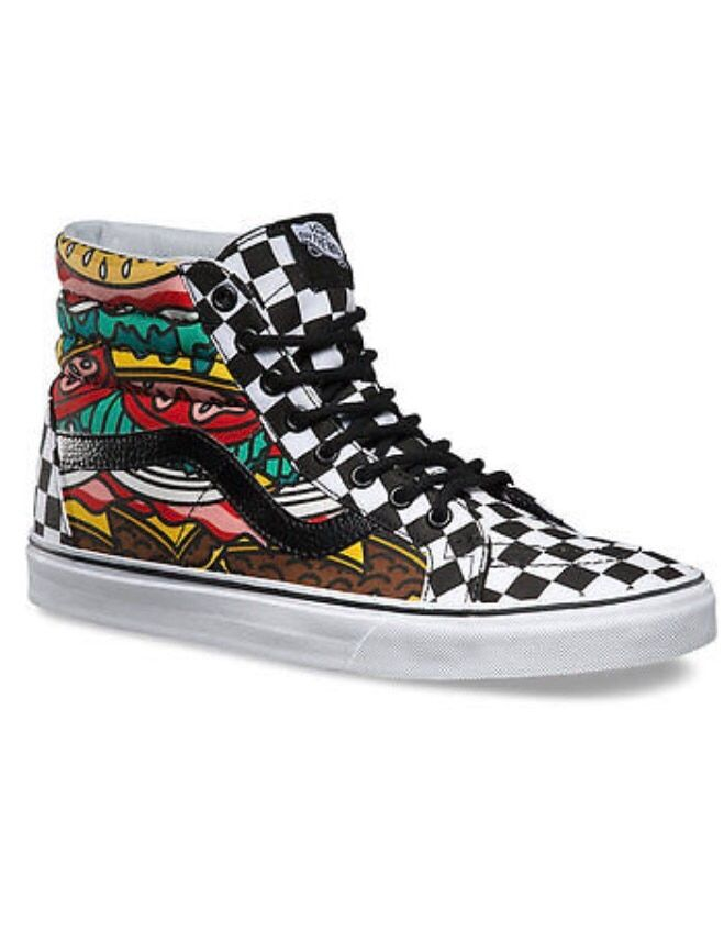 a676a36c8a letgo - Hamburger Checkered Vans Hightop... in Bartlett