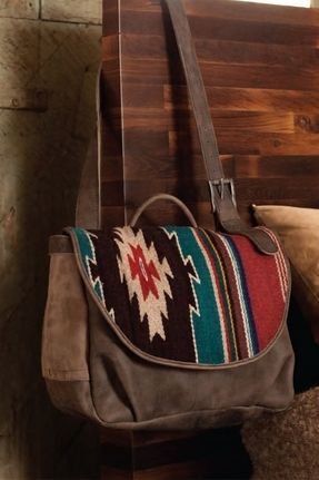 Will Leather Goods Postal Bag Oaxacan in Grey on shopstyle.com ... c45d155287