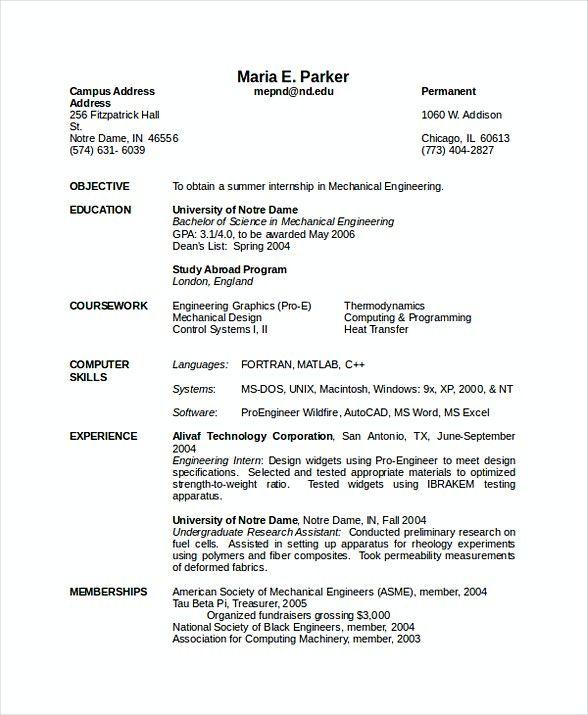 Mechanical Engineering Resume Software Engineering Manager Resume If You Are Seek Engineering Resume Templates Engineering Resume Free Resume Template Word