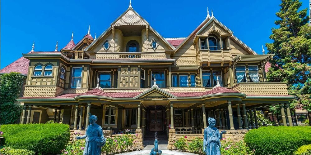 Take The Winchester Mystery House Virtual Tour In 2020 Winchester Mystery House Winchester House American Mansions