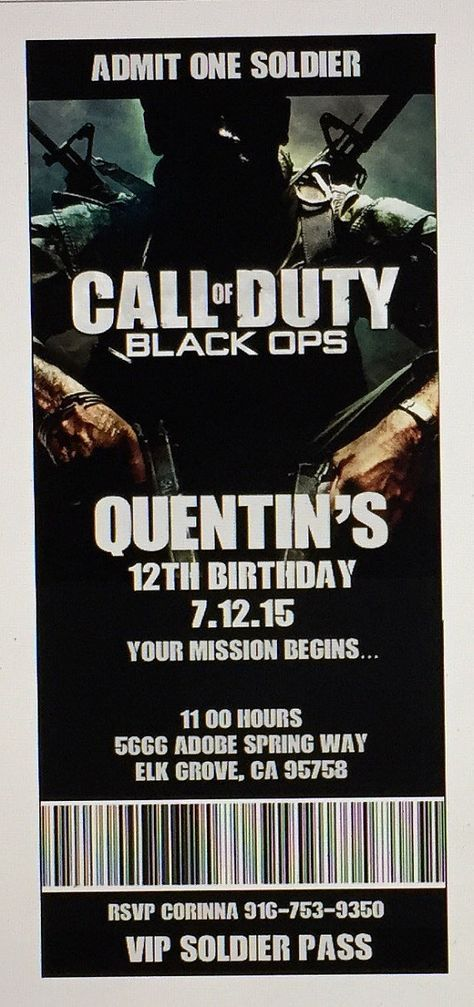 Call of duty birthday invitations xboxps3 birthday party call call of duty birthday invitations xboxps3 birthday party call of duty printable invitation black ops invitations printable pdf file filmwisefo