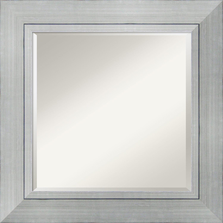 Amanti Art Wall Mirror Square, Romano Silver 28 x 28inch