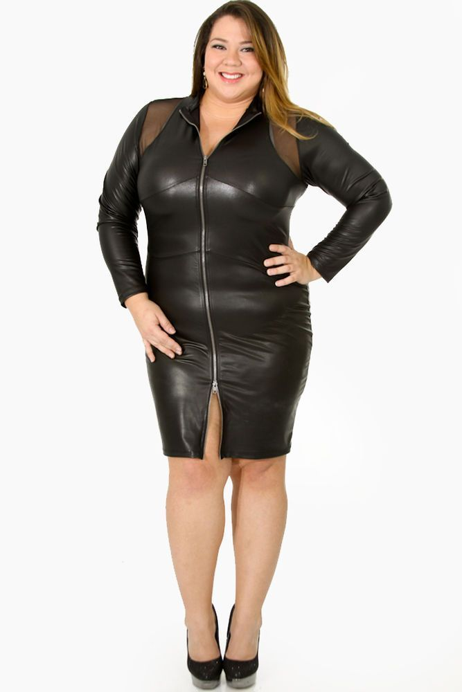 cutethickgirls.com plus size leather dress (01) # ...
