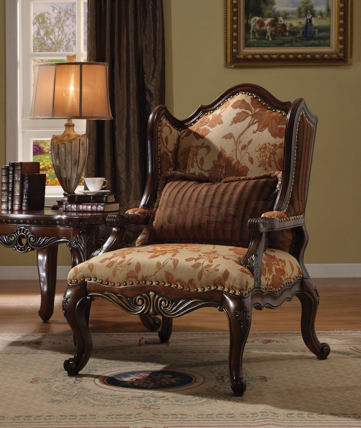 appealing traditional fabric sofas living room furniture | traditional chairs for living room | ... and Fabric Chair ...
