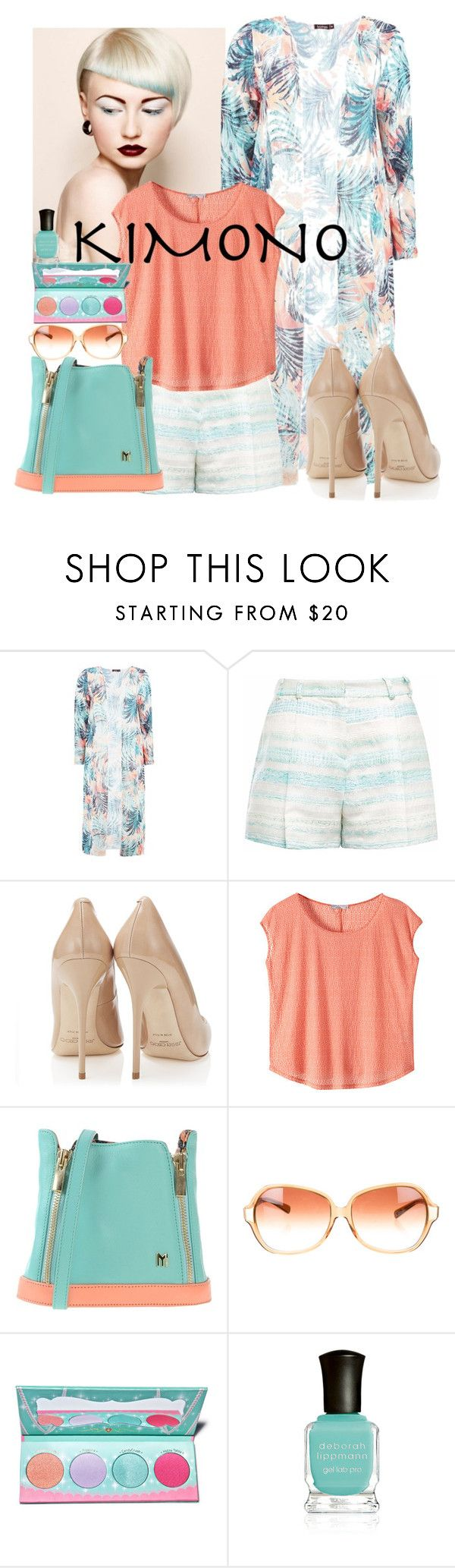"""Kimono Spring"" by terryjanlee ❤ liked on Polyvore featuring Gyunel, prAna, MYSUELLY, Oliver Peoples, Sugarpill, Deborah Lippmann and kimonos"