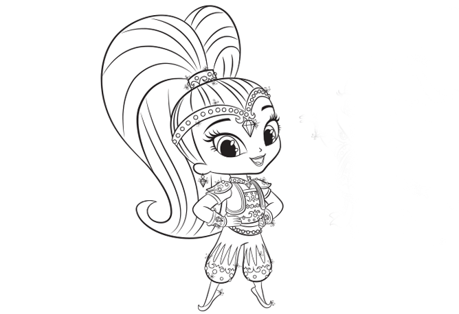 Shine and Shimmer Coloring Pages Nick Jr  shimmer and shine