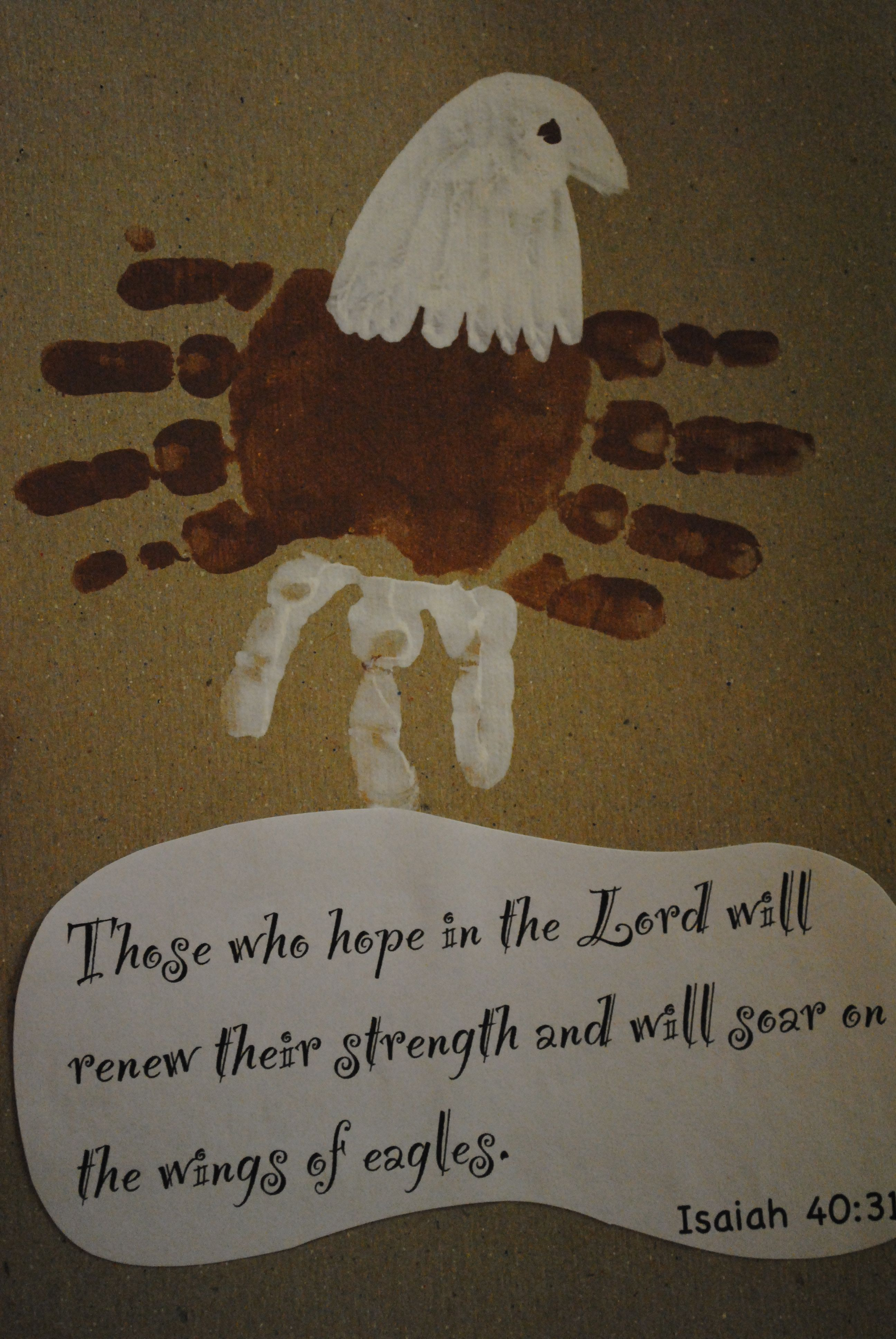 Isaiah 40 31 Eagle Art For Papaw From Kids For Christmas