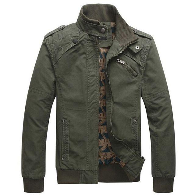 Hombres de la chaqueta de algodón Casual chaqueta de invierno del Collar  del soporte Coats ejército militar aire libre para hombre de hombre ropa  abrigo ... 2a7076ccde4