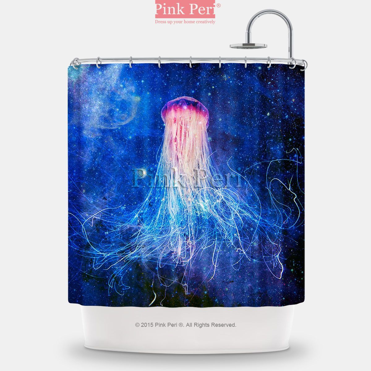 Galaxy Jellyfish Shower Curtain Free Shipping Home Living