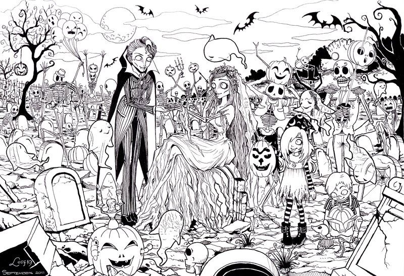 Ghosts Halloween Party by ~Leaf-19 at Deviantart Printable Art - best of coloring pages for the number 19