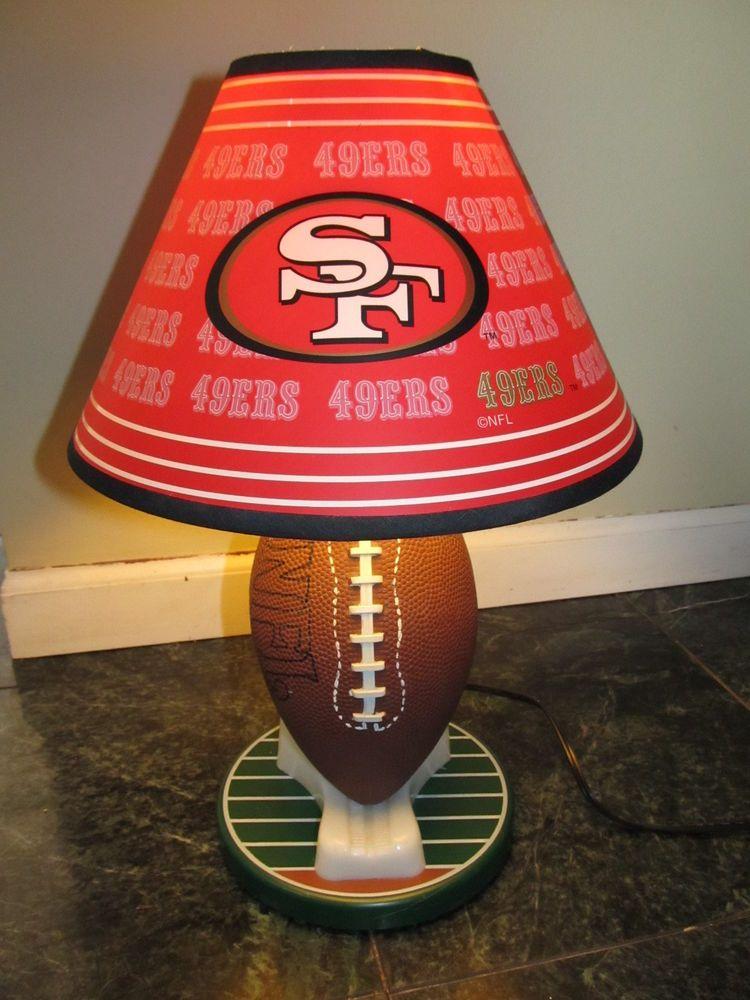 San Francisco 49ers Football Table Lamp Desk Lamp Lampshade 16 Tall