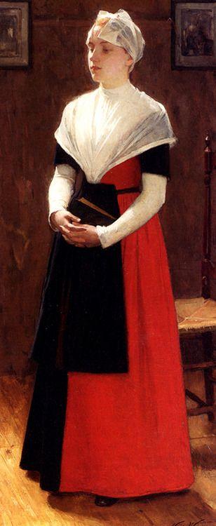 Orphanage Girl, Amsterdam by Nicolaas van der Waaij (Dutch 1855-1936)
