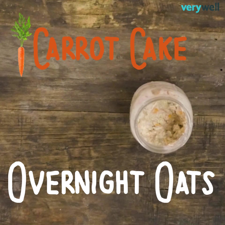 DIY Carrot Cake Overnight Oats: a delicious healthy breakfast that's ready to go when you are.