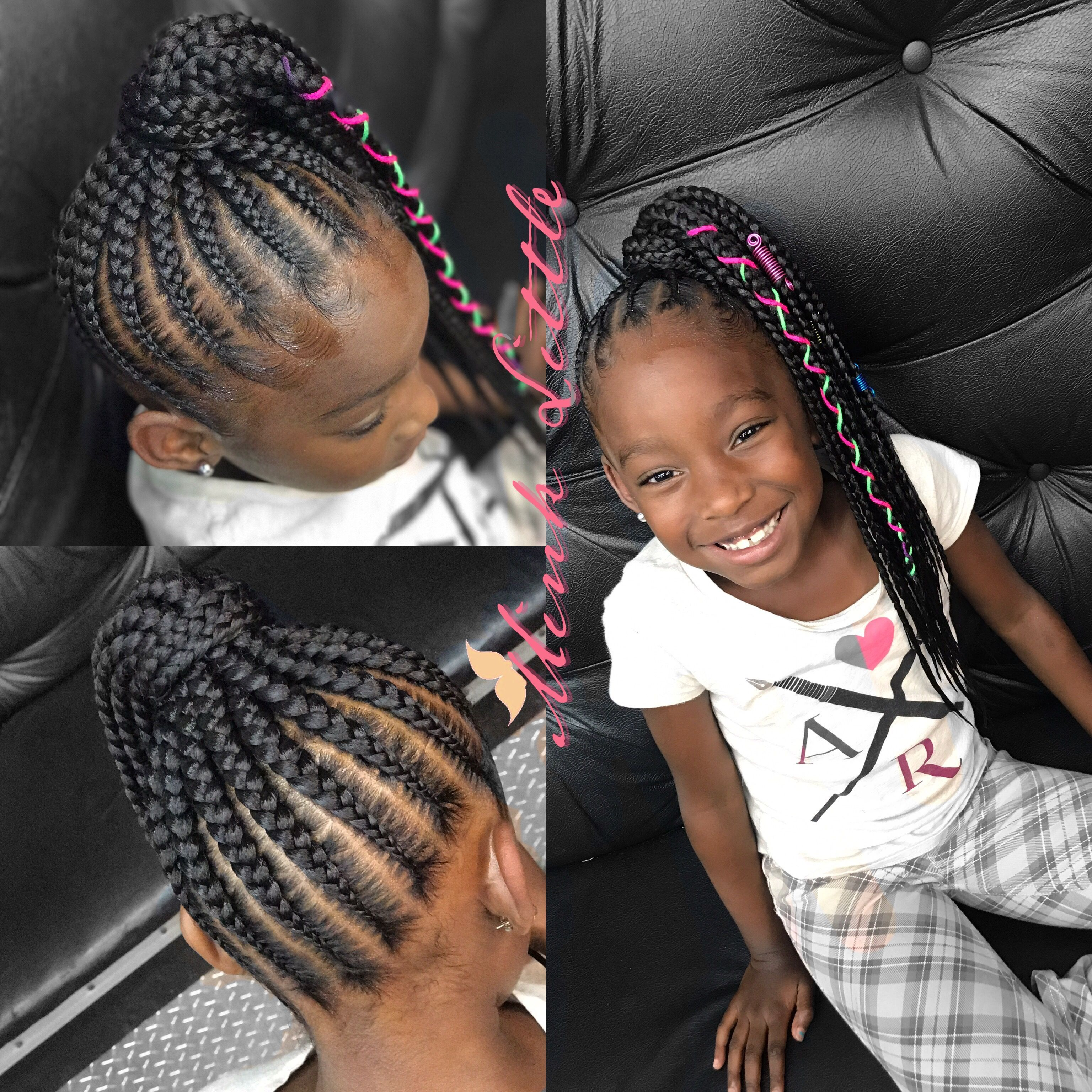 Braids Up In A Ponytail