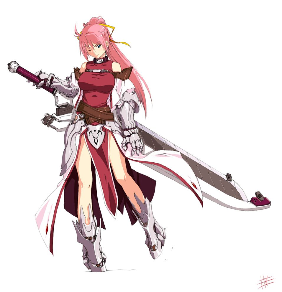Anime Characters Using Sword : Warrior soldier also an impractically large sword