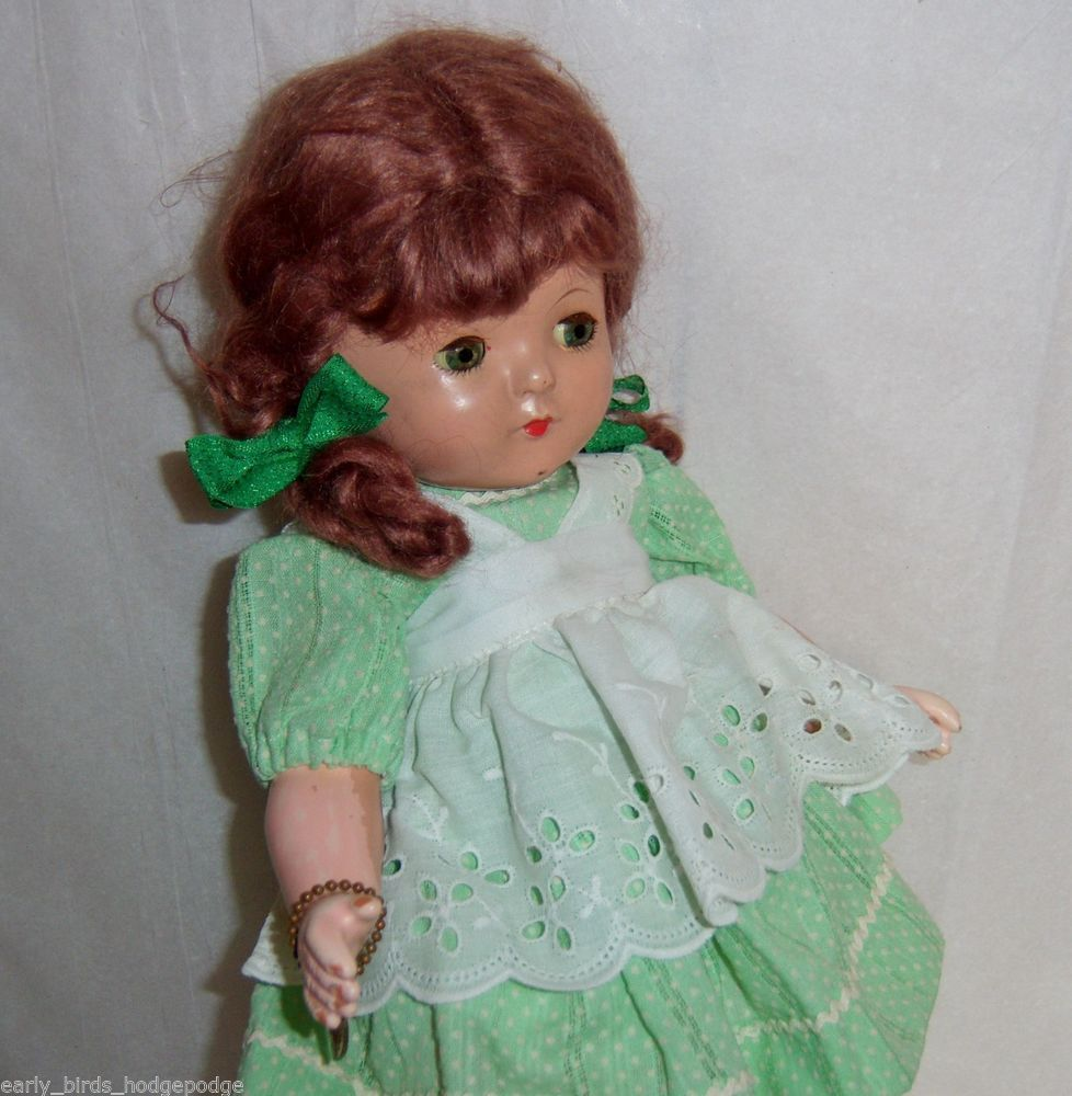 """1932 - 33 VINTAGE EFFANBEE PATSY """" PATRICIA """" COMPOSITION 14"""" DOLL W WRIST TAG"""