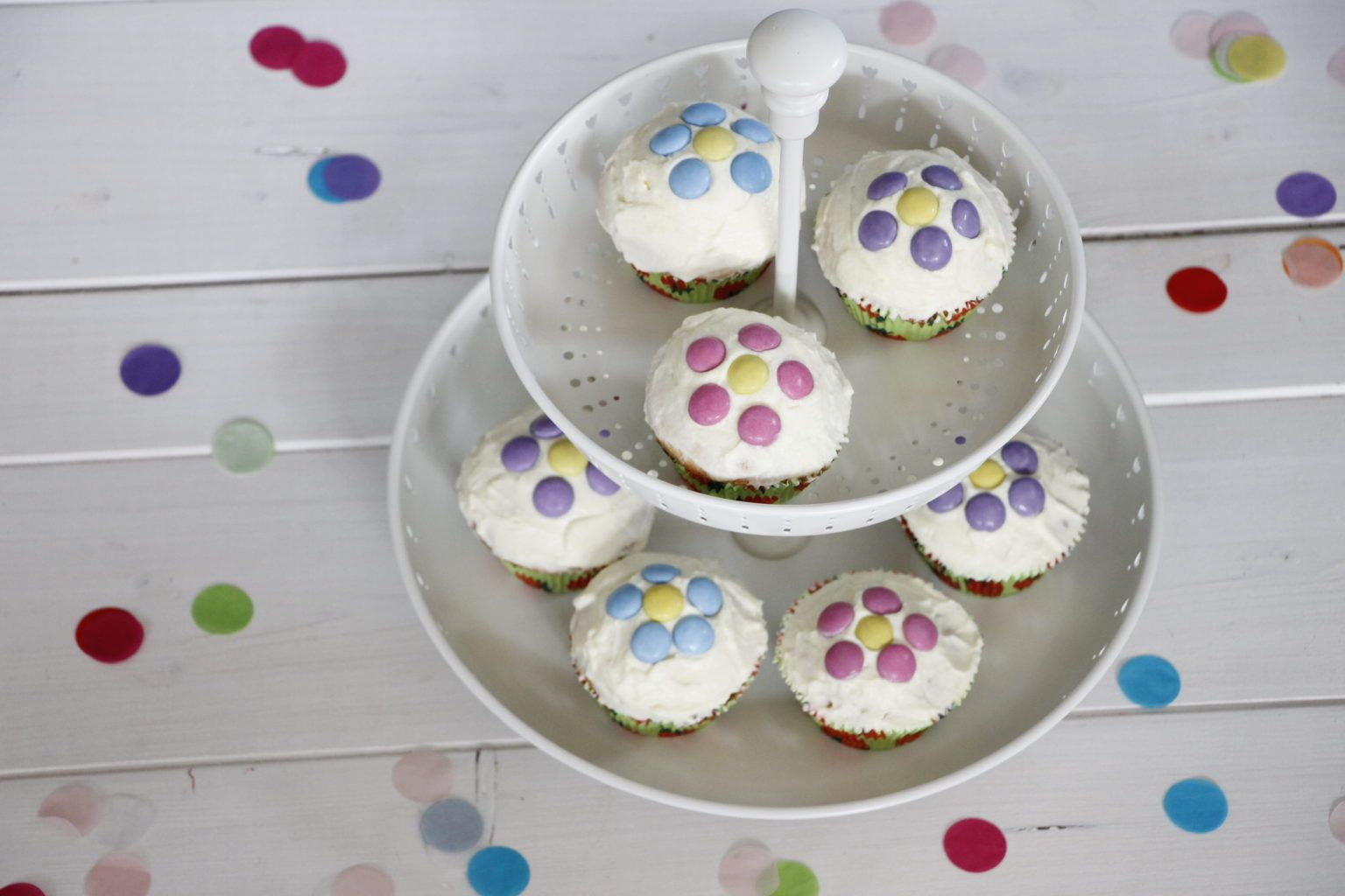 Geniales Partyrezept Pinata Cupcakes Pinata Cupcakes Partyrezepte Smarties Kuchen